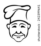 cheerful smiling chef of... | Shutterstock .eps vector #242399641