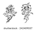 angry tornado and hurricane... | Shutterstock .eps vector #242409037