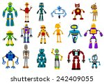 cyborgs  robots and aliens set... | Shutterstock .eps vector #242409055