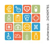 set of simple medical icons   Shutterstock .eps vector #242409781