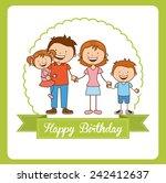 happy birthday | Shutterstock .eps vector #242412637