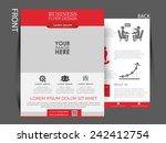 vector flyer  brochure ...   Shutterstock .eps vector #242412754