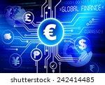 global currency vector | Shutterstock .eps vector #242414485