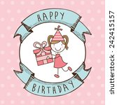 happy birthday | Shutterstock .eps vector #242415157
