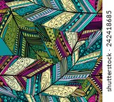 seamless pattern with abstract... | Shutterstock .eps vector #242418685