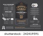 restaurant menu design  | Shutterstock .eps vector #242419591