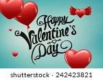 composite image of valentines...   Shutterstock . vector #242423821