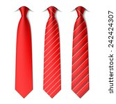red plain and striped ties.... | Shutterstock .eps vector #242424307