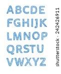 handwritten alphabet | Shutterstock .eps vector #242426911