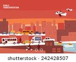 public transportation vector... | Shutterstock .eps vector #242428507
