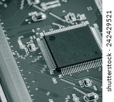 with the integrated circuit ... | Shutterstock . vector #242429521