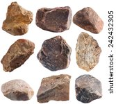 Set Of Stones Isolated On Whit...