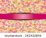 colorful valentine's day...   Shutterstock .eps vector #242432854