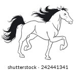 beautiful horse. | Shutterstock .eps vector #242441341