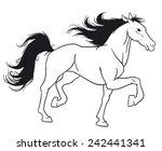 beautiful horse. | Shutterstock .eps vector #242441341