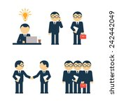 set of vector businessmen | Shutterstock .eps vector #242442049