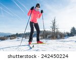 cross country skiing. close up... | Shutterstock . vector #242450224