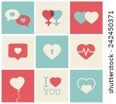 heart icon set idea for... | Shutterstock .eps vector #242450371