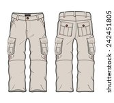 men cargo pants vector template | Shutterstock .eps vector #242451805