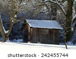 Landscape With Wooden Shack In...