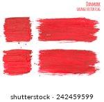painted grunge denmark flag ... | Shutterstock .eps vector #242459599