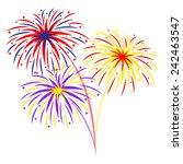 fireworks on white background ...   Shutterstock .eps vector #242463547