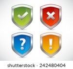 vector shields collection with... | Shutterstock .eps vector #242480404