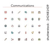 social and communications... | Shutterstock .eps vector #242481439