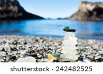 Pyramid Of Polished Sea Glass....