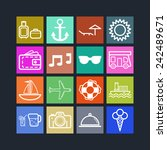 set of simple icons for... | Shutterstock .eps vector #242489671