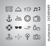set of simple icons for... | Shutterstock .eps vector #242489689