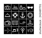 set of simple icons for... | Shutterstock .eps vector #242489701