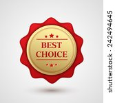 vintage red label best choice.... | Shutterstock .eps vector #242494645