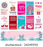 valentine s day cards and... | Shutterstock .eps vector #24249553