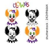 Happy And Creepy Clown Icon...