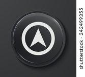 modern black glass circle icon