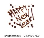 happy new year  modern style... | Shutterstock . vector #242499769