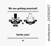 marriage invitation template in ... | Shutterstock .eps vector #242502427