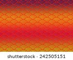 traditional asian wave pattern... | Shutterstock . vector #242505151
