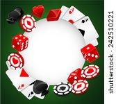 roulette vector casino... | Shutterstock .eps vector #242510221