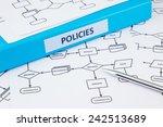 blue binder with policies word... | Shutterstock . vector #242513689