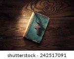 Closeup Of Wooden Christian...