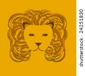 vector stylized lion head with... | Shutterstock .eps vector #24251830