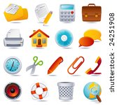 vector illustration   office... | Shutterstock .eps vector #24251908