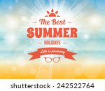summer typography vector design ... | Shutterstock .eps vector #242522764