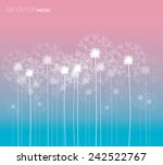 Dandelion Vector Background...