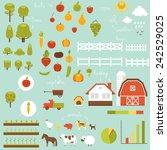 big set of farm design elements | Shutterstock .eps vector #242529025