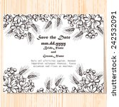wedding invitation cards with... | Shutterstock .eps vector #242532091