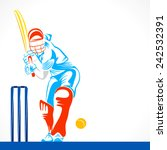 sketch cricket play ready to... | Shutterstock .eps vector #242532391