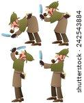 detective set  set of 4... | Shutterstock .eps vector #242543884
